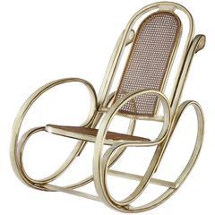 Art Nouveau Rocking Chair by Antonio Volpe