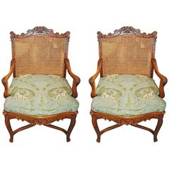 18th Century Pair of Regence' Armchairs