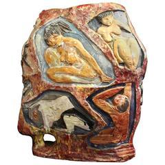 Glazed Ceramic Vase Attributed to Giovanni Chissotti, 1950