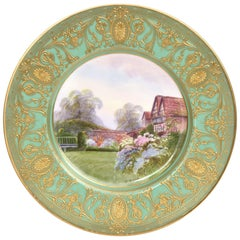 Fantastic Cabinet Plate, Royal Worcester Painted by Raymond Rushton, circa 1927