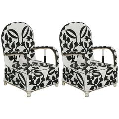 "Pair of African Beaded Chairs, Nigeria, ""Nobility Chairs"" for Chiefs Only"