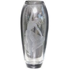 """Java Dancer"" Swedish Glass Vase by Orrefors"