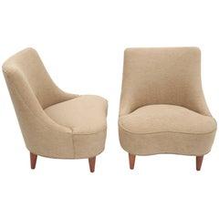 Edward Wormley Tear Drop Lounge Chairs