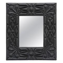 Composition Faux Tramp Art Mirror