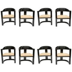 Set of Eight Karl Springer Onassis Chairs