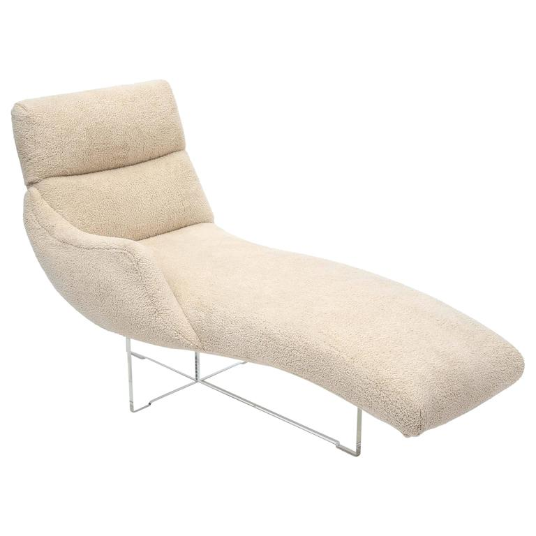vladimir kagan erica chaise longue for sale at 1stdibs. Black Bedroom Furniture Sets. Home Design Ideas