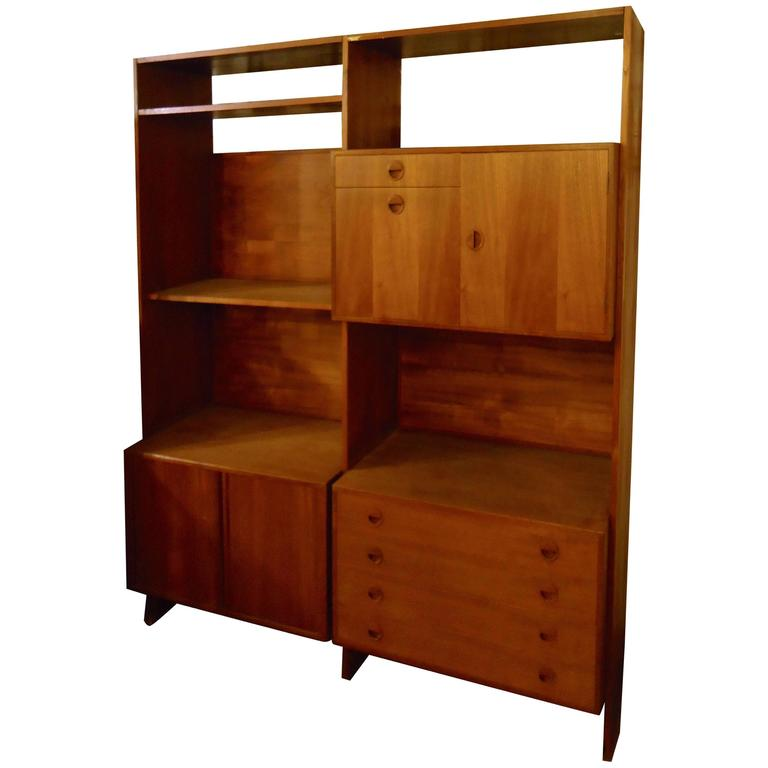 Danish Modern Standing Wall Unit For Sale