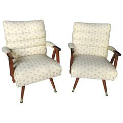 Pair of Italian Style Rocking Easy Chairs
