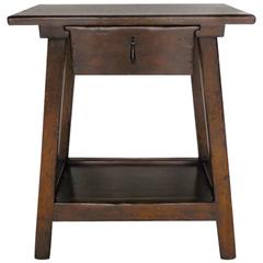 Dos Gallos Custom Wood Nightstand/Side Table with Drawer and Shelf