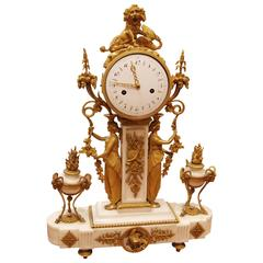 Period Louis XVI Bronze Dore' Clock