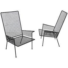 Pair of Expanded Metal Chairs by Hendrik Van Keppel & Taylor Green