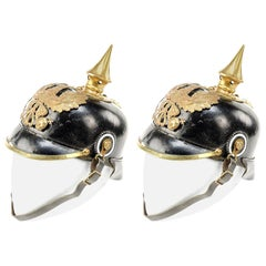 Two 19th Century Austrian Parade Pickle Helmets