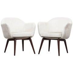 Pair of Jorge Zalszupin Lounge Chairs