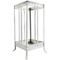 Painted Metal Stick Stand Attributed to Joseph Hoffman