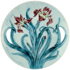 Gustavsberg Art Nouveau Earthenware Dish Decorated with Flower
