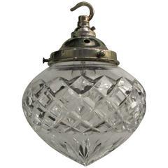 Cut-Glass Single Bulb Pendent Light