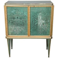 Decorative Lighted Glass Cabinet