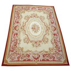 Large Elegant French Style Woven Carpet