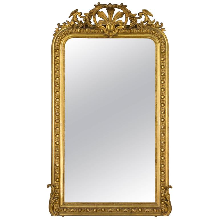19th Century Louis-Philippe Gilded Mirror For Sale