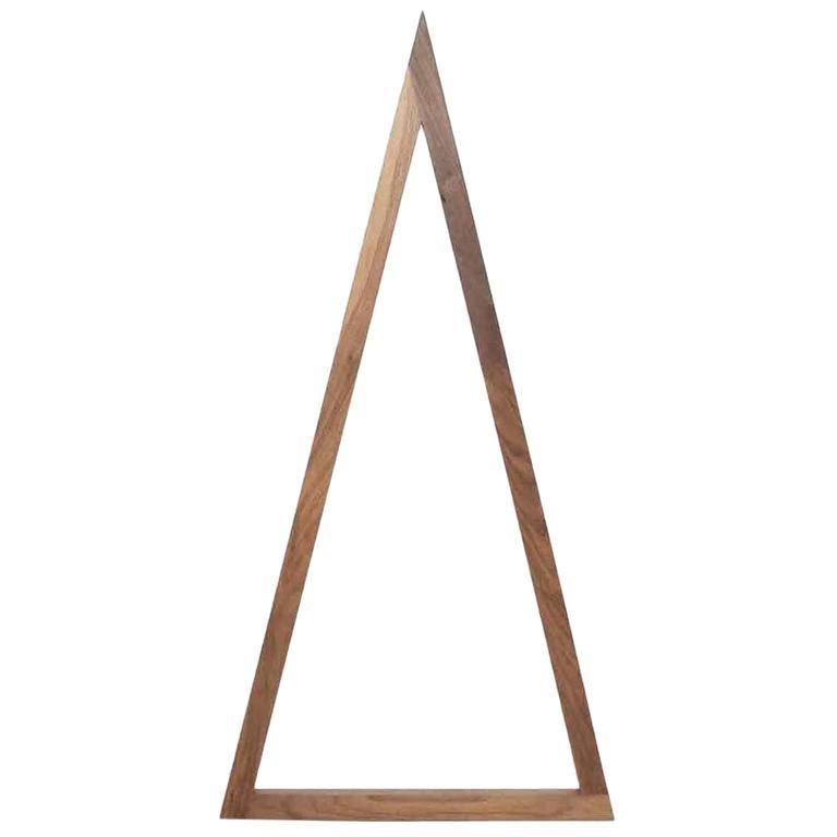 Tall Skinny Triangle Walnut Line Light