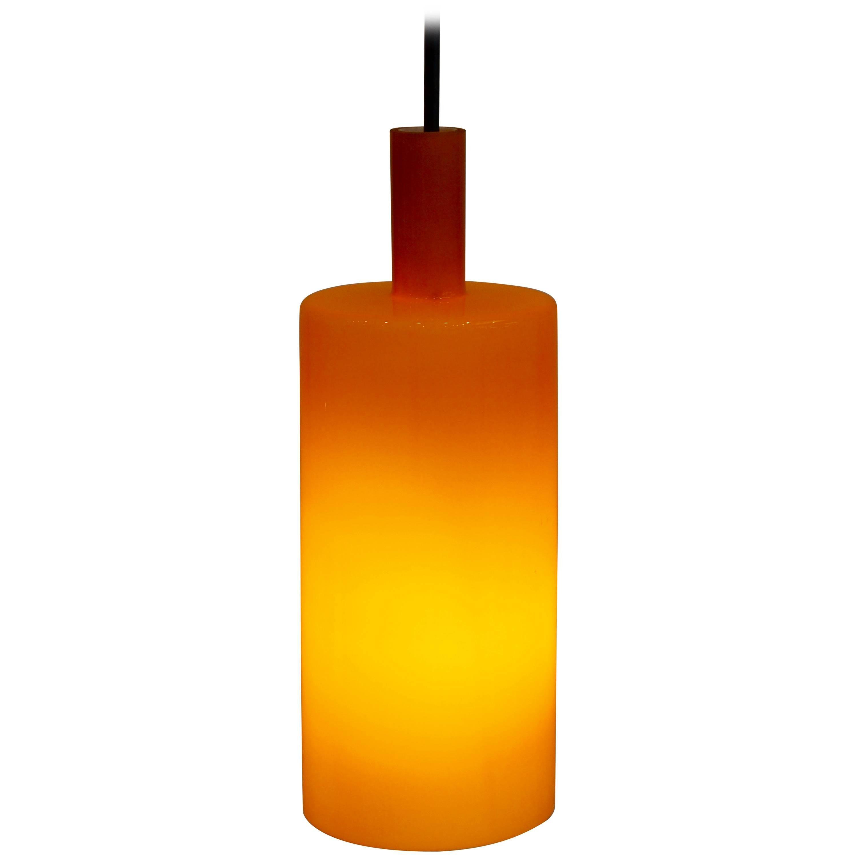 Mid Century Modern Danish Orange Pendant Light by Jo Hammerborg for Fog & Mørup
