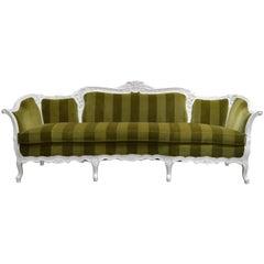 Antique Hollywood Regency Rococo Style Sofa