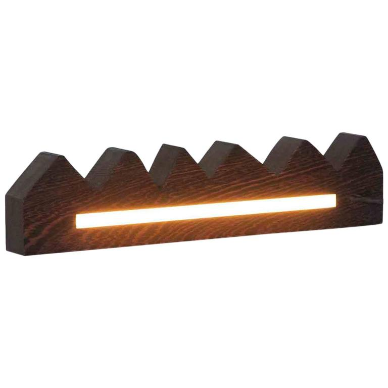 Chunky wenge zag light for sale at 1stdibs for Chunky wooden floor lamp