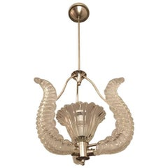 Mid-Century Chandelier in the Manner of  Barovier and Toso