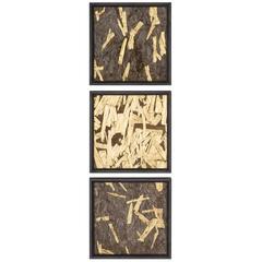 Gold Leaf Triptych