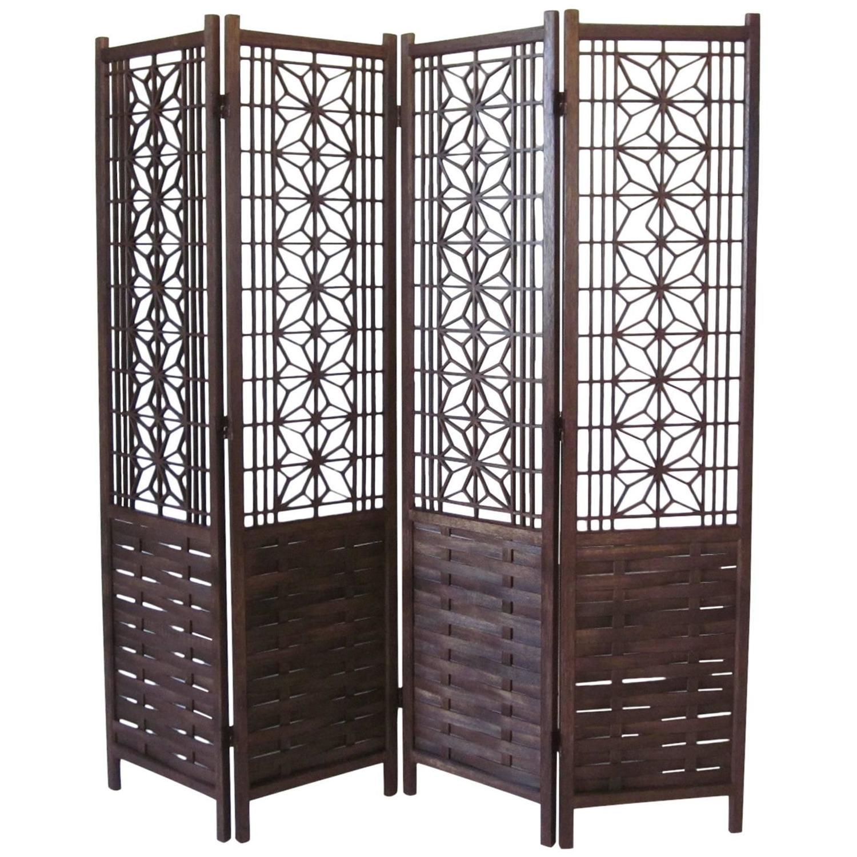 teakwood room divider for sale at 1stdibs