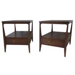 Mid Century Mahogany Nightstands or End Tables