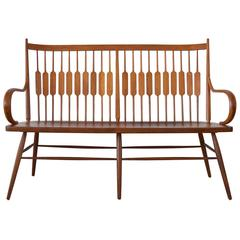 Walnut Shaker Style Bench by Kipp Stewart and Stuart McDougall