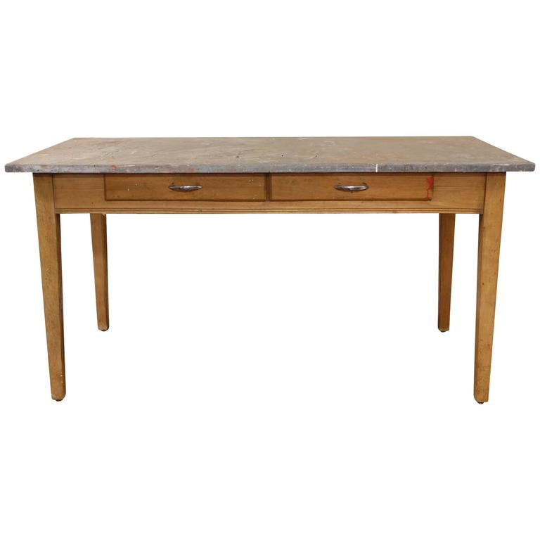 1920s Industrial Zinc Top Potting Table For Sale At 1stdibs