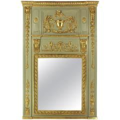 Large Neoclassical Prussian Trumeau Mirror, circa 1795