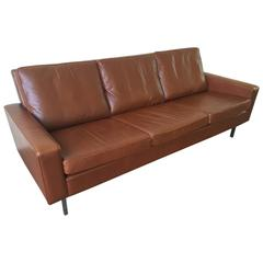 Three-Seat Sofa Upholstered in Leather