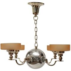 Art Deco Ceiling Lamp, Design Elis Bergh by CG Hallberg, Stockholm, circa 1925