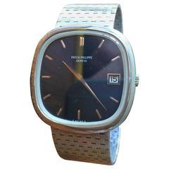 Wonderful 18-Karat White Gold Patek Philippe 3604 Jumbo Ellipse Watch