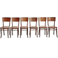 Set of Six Chairs by August Thonet for Thonet, circa 1900