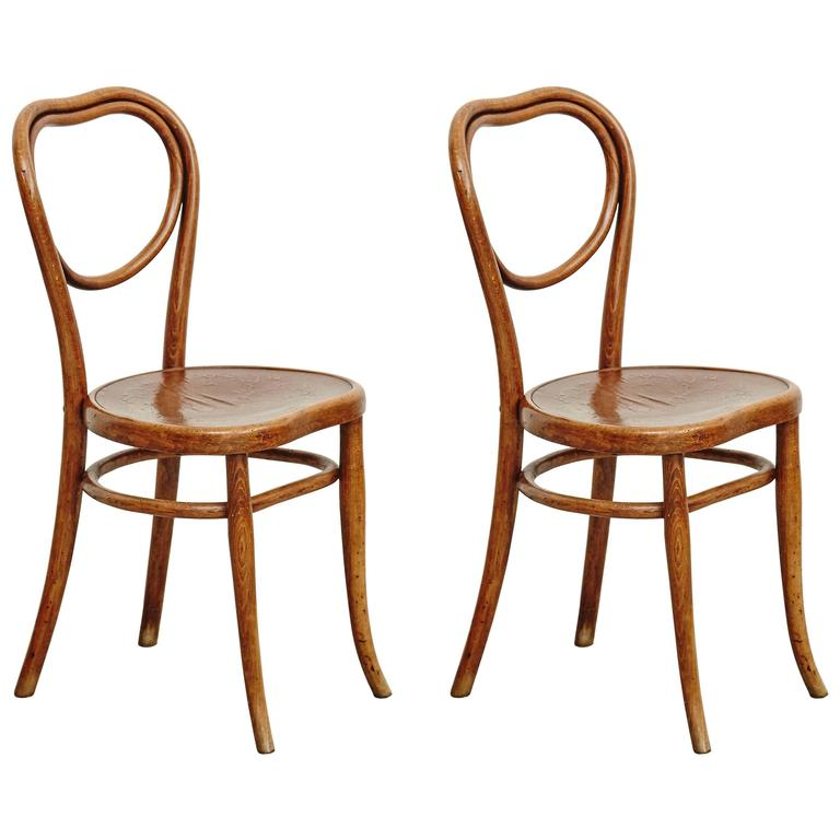 Pair Of Thonet Chairs For Thonet, Circa 1920 1