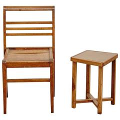Set of Chair and Table by Rene Gabriel, circa 1940