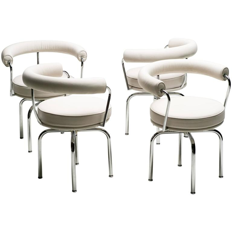 set of four charlotte perriand lc7 chairs by cassina at 1stdibs. Black Bedroom Furniture Sets. Home Design Ideas