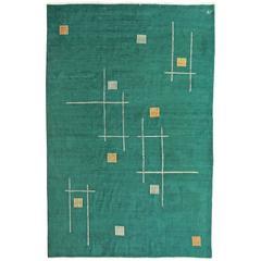 Persian Art Deco Carpet, Signed Amoghli