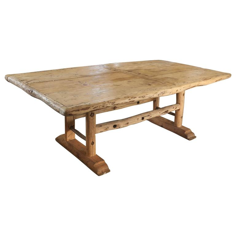 19th century pegged french dining table from the mountains of jura at
