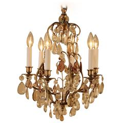 French 1930s Crystal Chandelier