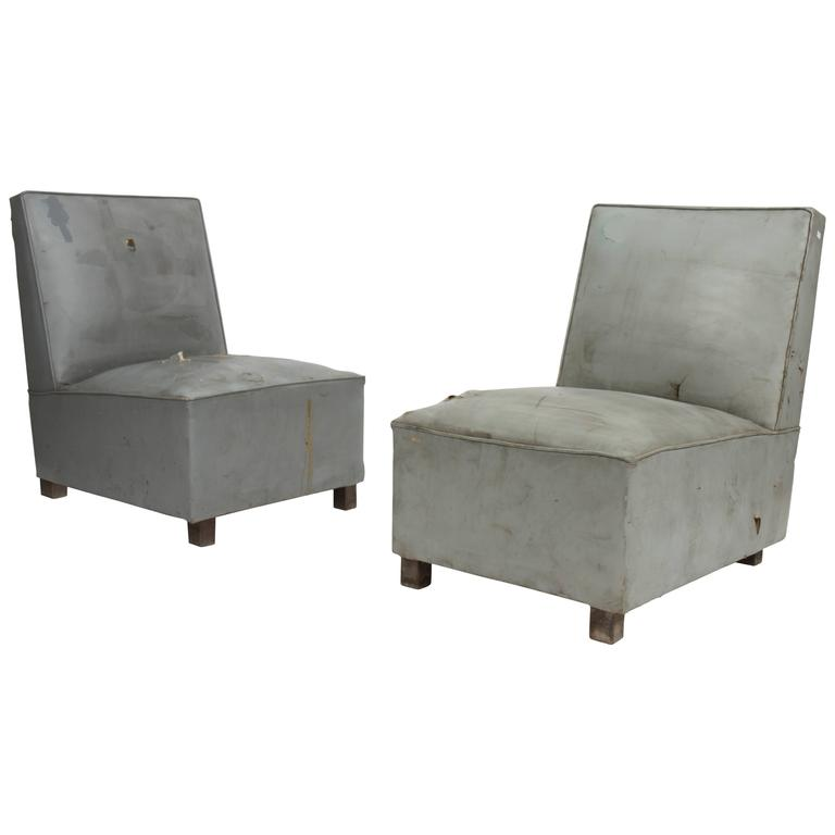 Pierre Jeanneret Exceptional Set of Two Lounge Seats