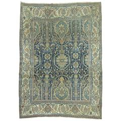 Antique Persian Senneh Bibikabad Style Rug