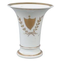 Rare 19th Century Tucker and Hemphill American Porcelain Trumpet Vase, 1830s
