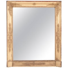 French 19th Century Empire Giltwood Mirror