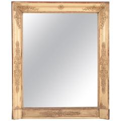 French 19th Century Empire Gold Gilt Mirror