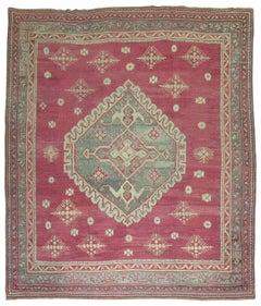 Antique Turkish Oushak Ghiordes Style Rug